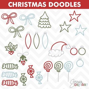 Clipart - Christmas Doodles