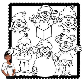 Clip Art~ Christmas Elves