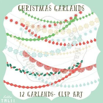 Clip Art: Christmas Garlands