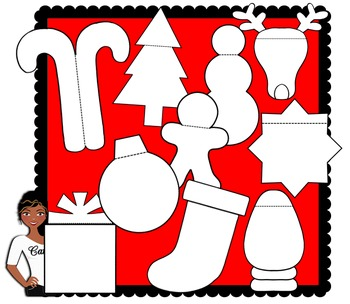 Clip Art ~ Christmas Interactive Notebook Foldables
