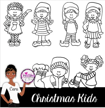 Clip Art~ Christmas Kids