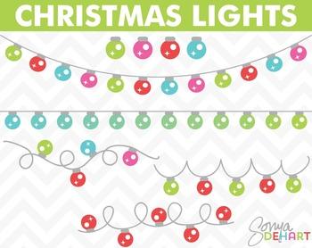 Clipart - Christmas Lights