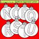 Clip Art Christmas Ornament Letters
