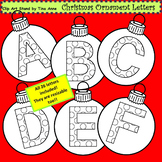 Clip Art Christmas Ornament Letters