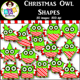 Clip Art ● Christmas Owl Shapes ● 2D Shapes ● Products for TpT Sellers