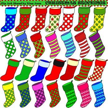 Clip Art Christmas Stockings