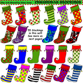Clip Art Christmas Stockings