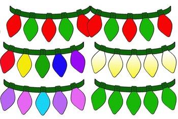 Clip Art~ Christmas Tree Bulbs / Lights