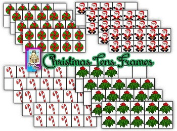 Clip Art~ Christmas / Winter Holiday Tens Frames Mega Bundle