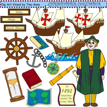 Clip Art Christopher Columbus Combo