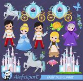 Clip Art - Cinderella - Fairy Tale Clipart