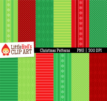 Christmas Backgrounds - 12 Digital Paper Patterns