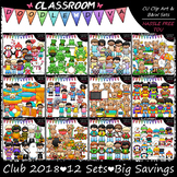 Clip Art Club 2018 - Growing Clip Art & B&W Bundle (12 Sets)