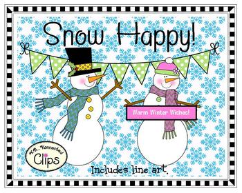 Clip Art Collection ~ Snow Happy!