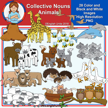 Clip Art - Collective Nouns - Animals