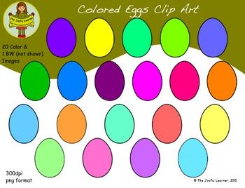 Clip Art: Colored Eggs (freebie)