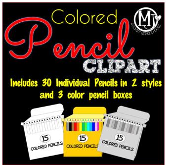 Clip Art - Colored Pencils