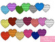 Clip Art:  Colorful Chevron Hearts