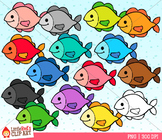 Rainbow Fish Clipart