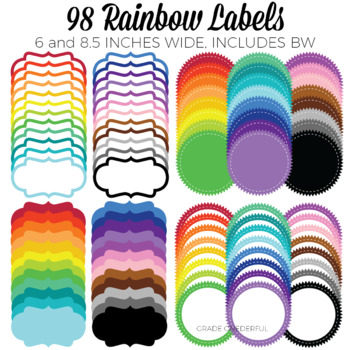 Rainbow Labels and Frames