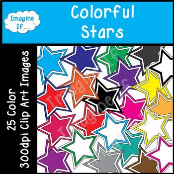 Clip Art-Colorful Stars
