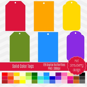 Clip Art - Coloured Tags - Back to Basics