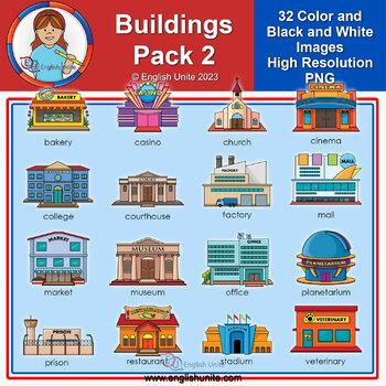 Clip Art - Community Buildings 2