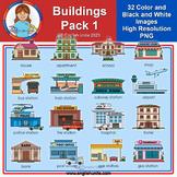 Clip Art - Community Buildings 1