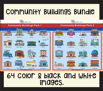 Clip Art - Community Buildings Bundle