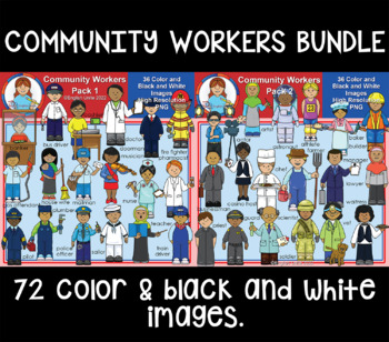 Clip Art - Community Workers Bundle