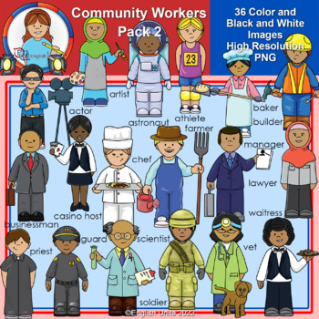 Clip Art - Community Workers Pack 2