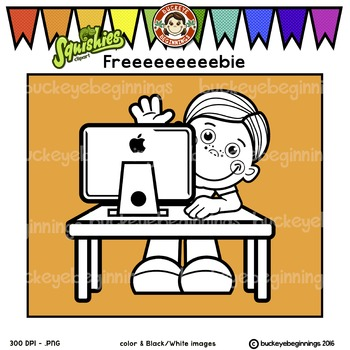 Clip Art Computer kid - FREE! Adorable Squishies
