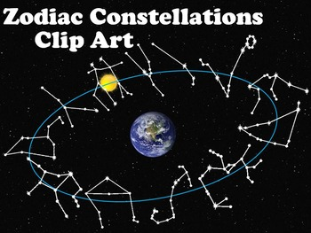 Constellations of the Zodiac Clip Art