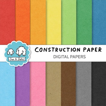 Clip Art: Construction Paper / Cardboard Texture Digital Papers / Backgrounds