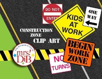 Clip Art - Road Construction Theme