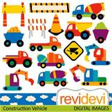 Clip Art: Construction trucks (transportation, vehicle, under construction)