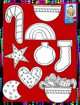 Clip Art~ Cookies for Santa