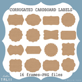 Clip Art: Corrugated Cardboard Labels