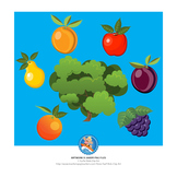 Clip Art : Count the Fruit on the Tree