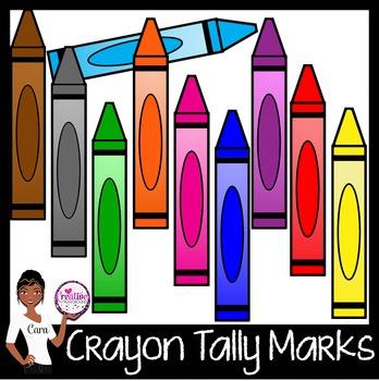 Clip Art~ Crayon Tally Marks and Crayons