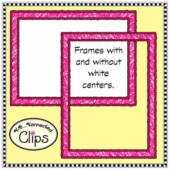 Clip Art - Crayons and Frames