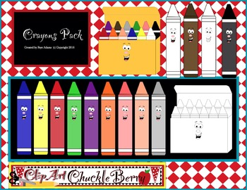 Clip Art Crayons by ClipArt ChuckleBerry