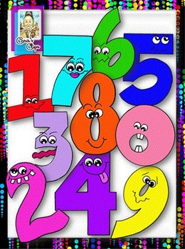 Clip Art~ Crazy Eights (Silly Numbers)
