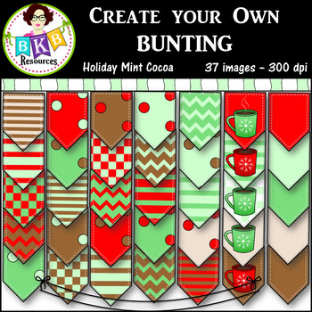 Clip Art ● Create Your Own Bunting ● Digital Images ● Prod