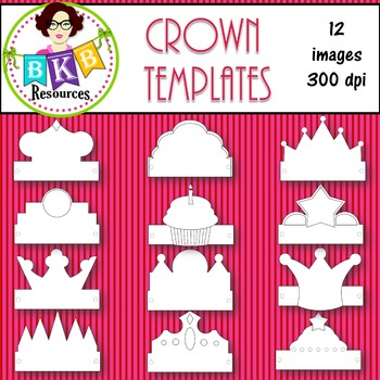 Clip Art ● Crown ● Templates ● Products for TpT sellers