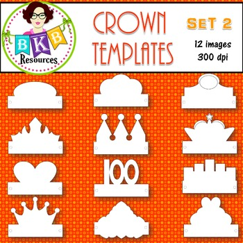 Clip Art ● Crown ● Templates ● Products for TpT sellers ● Crown Templates Set 2