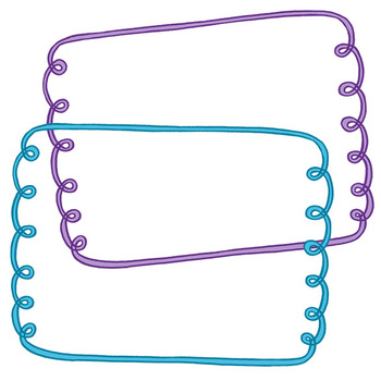Clip Art: Curls and Stripes Border Set For Personal and Commercial Use
