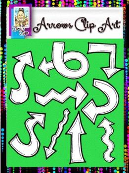 Clip Art~ Curly, Twirly  Rainbow Arrows