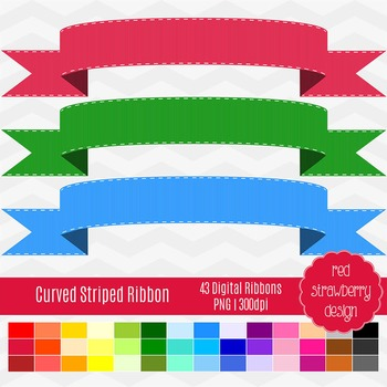 Clip Art - Curved Striped Banner - Back to Basics