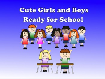 Clip Art: Cute Boy and Girl Students - Editable!